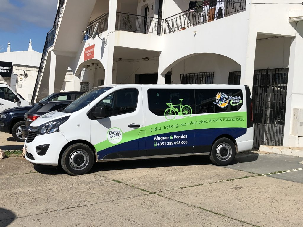 With our modern van we are able to pick up or deliver your E-Bike!